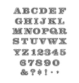 Batik Font vector image vector image