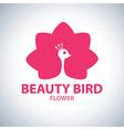 beauty bird flower symbol icon