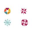 beauty plumeria icon flowers design vector image vector image