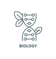 biology line icon biology outline sign vector image vector image