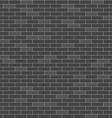 Black brick wall seamless pattern vector image vector image