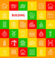building line icons vector image