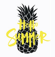 cartoon pineapple with an inscription summer vector image vector image