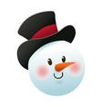 christmas snowman decoration celebration vector image vector image