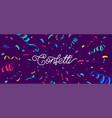 confetti banner background with colorful vector image