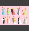 couples getting married vector image vector image