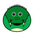 cute crocodile cute animal faces vector image vector image
