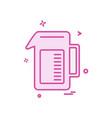 drink icon design vector image