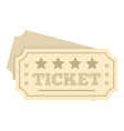 film ticket icon flat style vector image