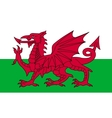 Flag of Wales in correct proportions and colors vector image