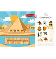flat egypt tourist concept vector image vector image