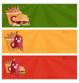 fried chicken fast food banners
