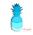 fruit pineapple silhouette cut out paper art vector image vector image