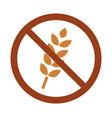 gluten free icon vector image vector image