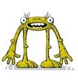 Green alien creature standing vector image vector image