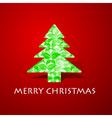 Green butterflies make a christmas tree vector image vector image