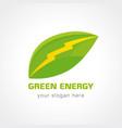 green energy company concept vector image