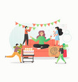 group people celebrating corporate party vector image vector image