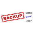 grunge backup scratched rectangle stamps vector image vector image