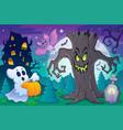 halloween topic scene 6 vector image vector image