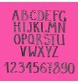hand drawn ethnic alphabet vector image