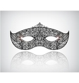 hand drawn lace mask masquerade logo icon vector image