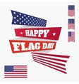Happy Flag Day badge vector image vector image
