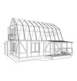 house sketch rendering of 3d vector image vector image