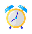 icon alarm clock in flat style vector image