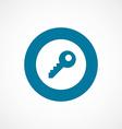 key bold blue border circle icon vector image vector image