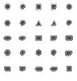 Label icons with reflect on white background vector image vector image