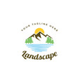 landscape logo design template vector image vector image