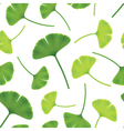 leaves of ginkgo bilboa seamless vector image vector image