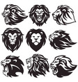 lion logo set collection package premium vector image vector image