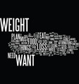 lose the weight you want forever text background vector image vector image