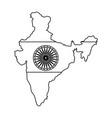 map indian with ashoka chakra