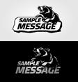 Mascot bear vector image