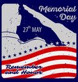 memorial day poster template vector image
