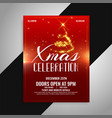 merry christmas party celebration poster design vector image vector image
