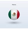 Mexico round flag vector image