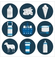 Milk flat icons set vector image vector image