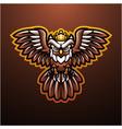 mystical bird esport mascot logo vector image