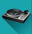 old black vinyl record and turntable background vector image