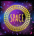 outer space magic background vector image