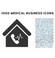 Phone Station Building Icon with 1000 Medical vector image vector image