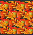 red and yellow autumn leaves seamless pattern on vector image vector image