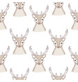 seamless deer pattern vector image