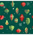 Seamless vintage green pattern with traditional vector image vector image