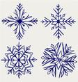 Snowflake winter vector image vector image