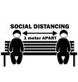 social distancing 1 meter apart stick figure vector image vector image